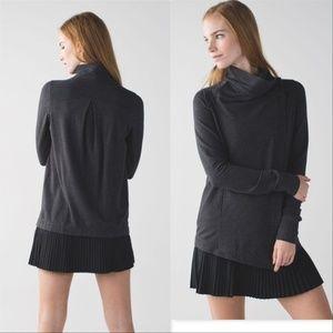 Lululemon Coast Wrap Heathered Mod black cardigan